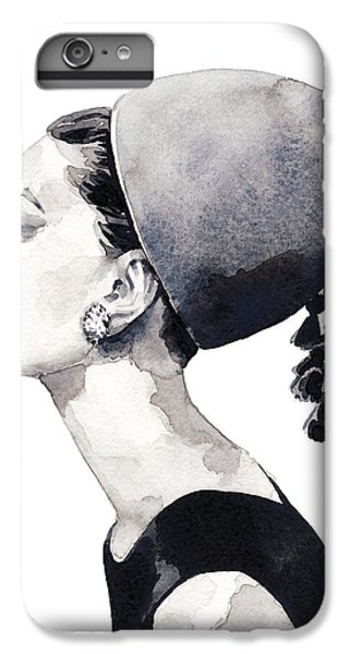 Audrey Hepburn iPhone 6s Plus Case - Audrey Hepburn For Vogue 1964 Couture by Laura Row