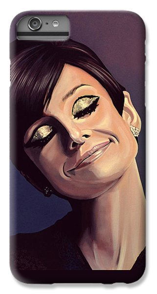 Audrey Hepburn iPhone 6s Plus Case - Audrey Hepburn Painting by Paul Meijering