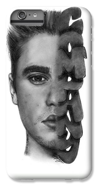 iPhone 6s Plus Case - Justin Bieber Drawing By Sofia Furniel by Jul V
