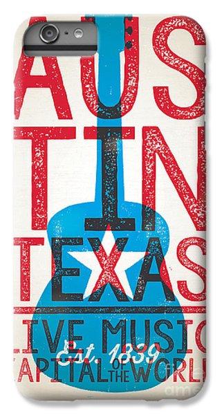 Johnny Cash iPhone 6s Plus Case - Austin Texas - Live Music by Jim Zahniser