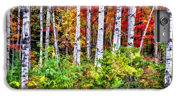 IPhone 6s Plus Case featuring the painting Autumn Birches by Christopher Arndt