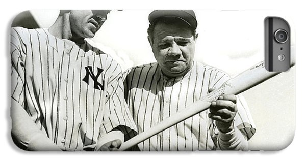 Babe Ruth And Lou Gehrig IPhone 6s Plus Case by Jon Neidert