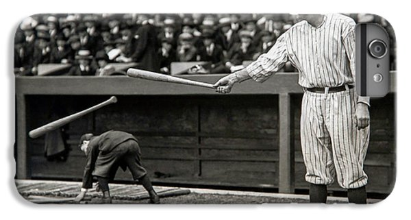 Babe Ruth iPhone 6s Plus Case - Babe Ruth At Bat by Jon Neidert