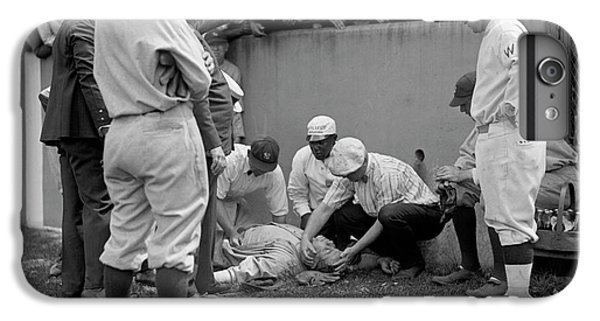 Babe Ruth iPhone 6s Plus Case - Babe Ruth Knocked Out By A Wild Pitch by Jon Neidert