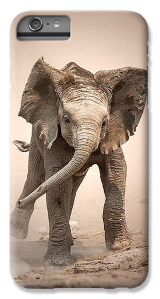 Cow iPhone 6s Plus Case - Baby Elephant Mock Charging by Johan Swanepoel