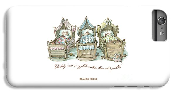The Brambly Hedge Baby Mice Snuggle In Their Cots IPhone 6s Plus Case