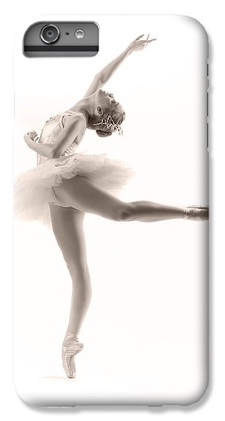 White iPhone 6s Plus Case - Ballerina by Steve Williams