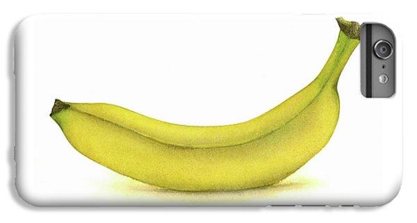 Banana Watercolor IPhone 6s Plus Case by Taylan Apukovska