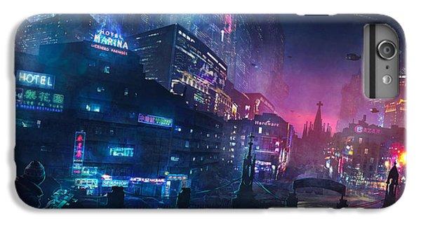Barcelona iPhone 6s Plus Case - Barcelona Smoke And Neons Sant Pau I La Sagrada Familia by Guillem H Pongiluppi