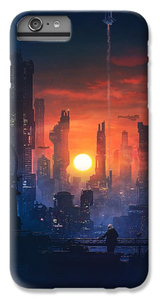 Barcelona iPhone 6s Plus Case - Barcelona Smoke And Neons The End by Guillem H Pongiluppi