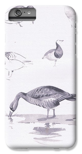 Barnacle And White Fronted Geese IPhone 6s Plus Case by Archibald Thorburn