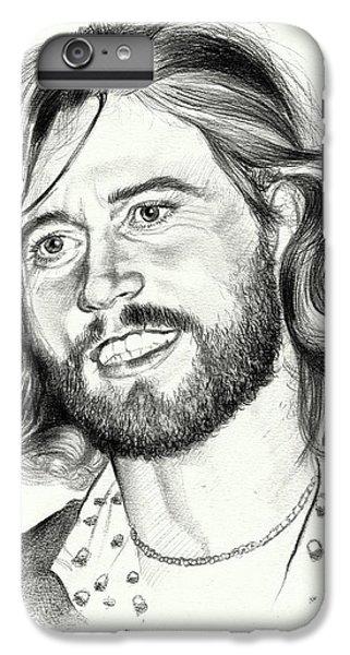 Eric Clapton iPhone 6s Plus Case - Barry Gibb Portrait by Suzann's Art