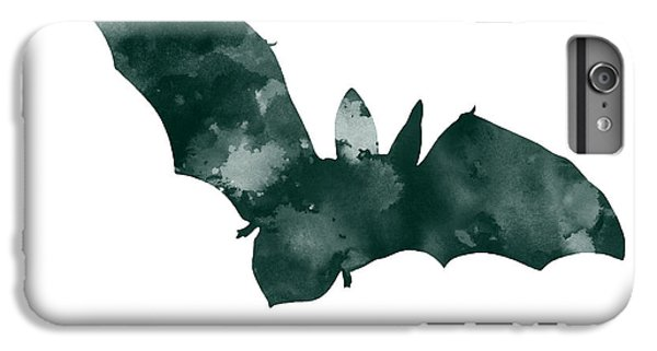 Bat Minimalist Watercolor Painting For Sale IPhone 6s Plus Case by Joanna Szmerdt