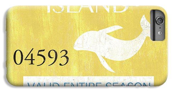 Dolphin iPhone 6s Plus Case - Beach Badge Long Beach Island 2 by Debbie DeWitt