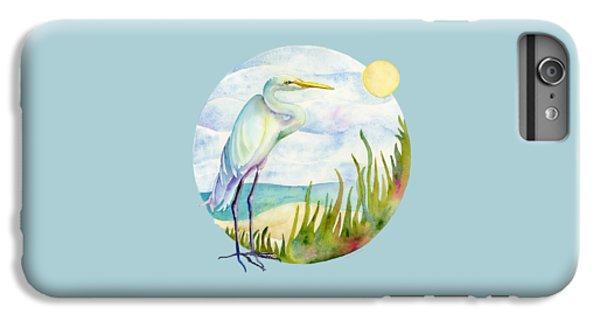 Beach Heron IPhone 6s Plus Case by Amy Kirkpatrick