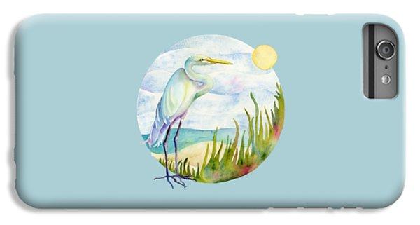 Beach iPhone 6s Plus Case - Beach Heron by Amy Kirkpatrick
