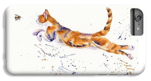 Cat iPhone 6s Plus Case - Bee Airborne by Debra Hall