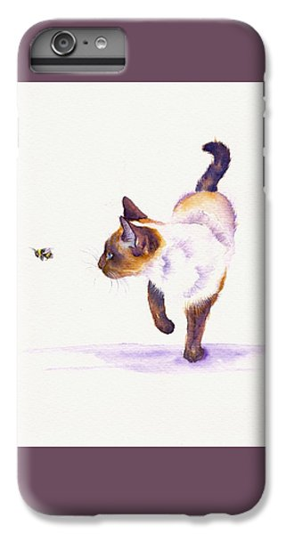 Cat iPhone 6s Plus Case - Bee Free by Debra Hall