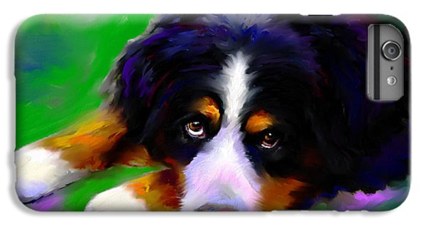 Bernese Mountain Dog Portrait Print IPhone 6s Plus Case