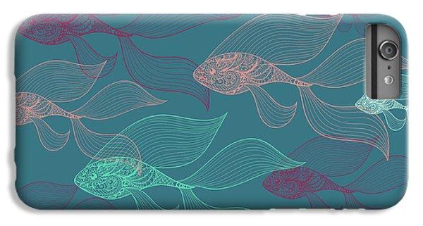 Dolphin iPhone 6s Plus Case - Beta Fish  by Mark Ashkenazi