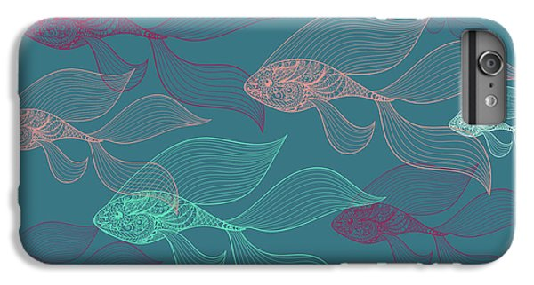 Beta Fish  IPhone 6s Plus Case by Mark Ashkenazi