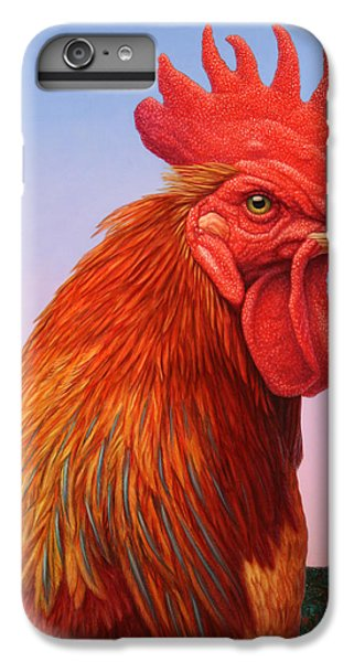 Rooster iPhone 6s Plus Case - Big Red Rooster by James W Johnson