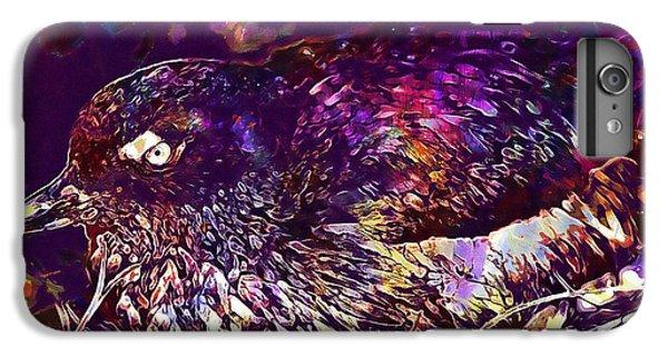 Auklets iPhone 6s Plus Case - Bird Cassins Auklet Crested Birds  by PixBreak Art