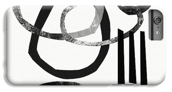 Abstract iPhone 6s Plus Case - Black And White- Abstract Art by Linda Woods