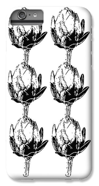 Black And White Artichokes- Art By Linda Woods IPhone 6s Plus Case by Linda Woods