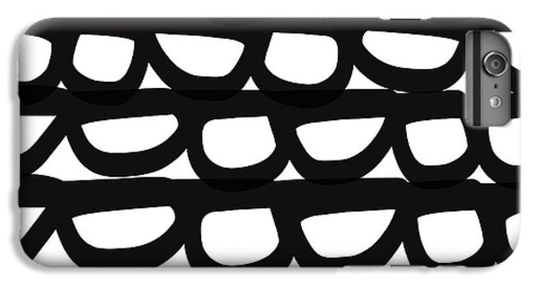 Wood iPhone 6s Plus Case - Black And White Pebbles- Art By Linda Woods by Linda Woods