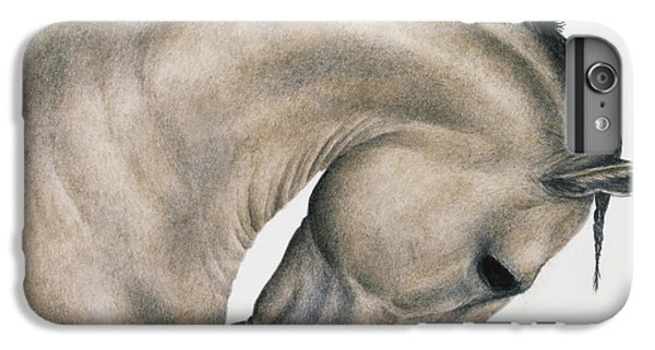 Horse iPhone 6s Plus Case - Black Braid by Pat Erickson