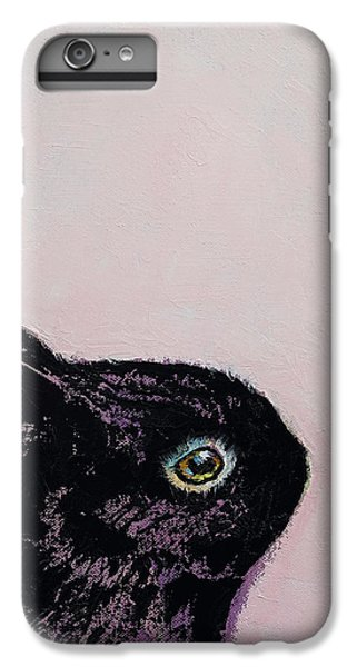 Black Bunny IPhone 6s Plus Case by Michael Creese