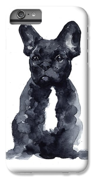 Black French Bulldog Watercolor Poster IPhone 6s Plus Case by Joanna Szmerdt