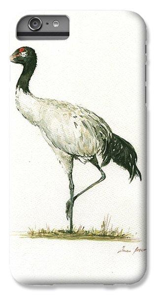 Crane iPhone 6s Plus Case - Black Necked Crane by Juan Bosco