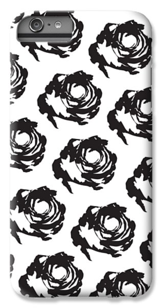 Black Rose Pattern IPhone 6s Plus Case by Cortney Herron