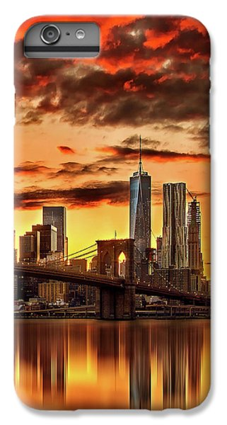Brooklyn Bridge iPhone 6s Plus Case - Blazing Manhattan Skyline by Az Jackson