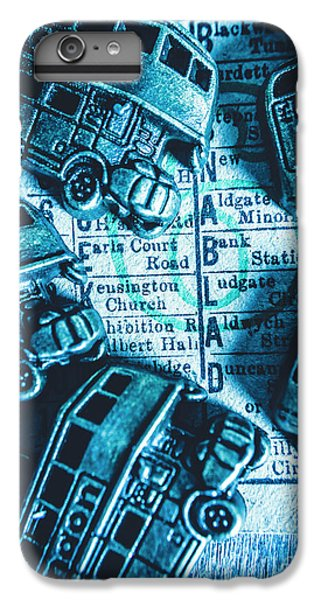 Pendant iPhone 6s Plus Case - Blue Britain Bus Bill by Jorgo Photography - Wall Art Gallery