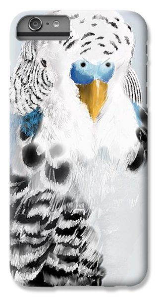 Parakeet iPhone 6s Plus Case - Blue Budgie by KC Gillies