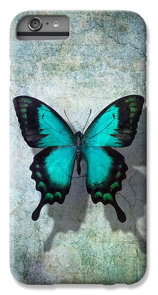 Animals iPhone 6s Plus Case - Blue Butterfly Resting by Garry Gay