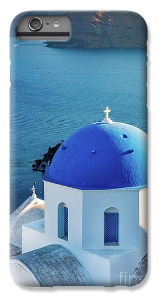 Greece iPhone 6s Plus Case - Blue Dome by Inge Johnsson
