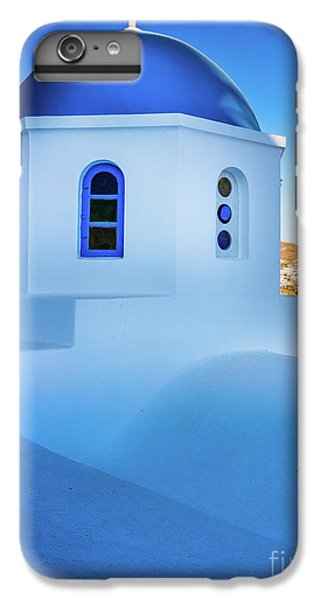 Greece iPhone 6s Plus Case - Blue Domed Chapel by Inge Johnsson