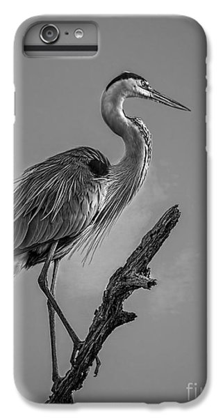 Blue In Black-bw IPhone 6s Plus Case by Marvin Spates