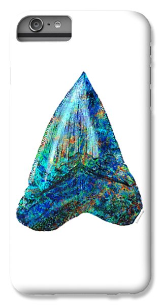 Blue Shark Tooth Art By Sharon Cummings IPhone 6s Plus Case by Sharon Cummings