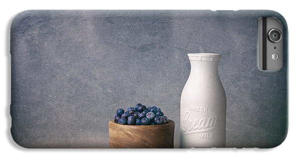 Blueberry iPhone 6s Plus Case - Blueberries And Cream by Tom Mc Nemar