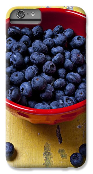 Blueberry iPhone 6s Plus Case - Blueberries In Red Bowl by Garry Gay