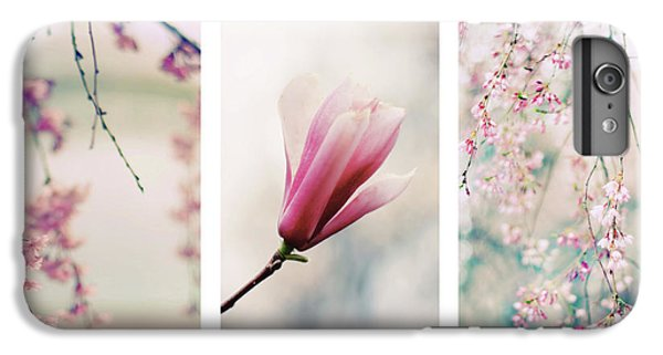 IPhone 6s Plus Case featuring the photograph Blush Blossom Triptych by Jessica Jenney