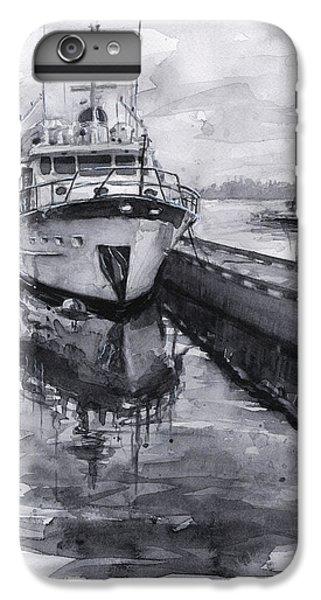 Seattle iPhone 6s Plus Case - Boat On Waterfront Marina Kirkland Washington by Olga Shvartsur
