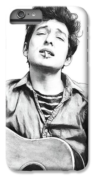 Bob Dylan Drawing Art Poster IPhone 6s Plus Case by Kim Wang