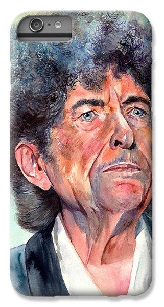 Johnny Cash iPhone 6s Plus Case - Bob Dylan Watercolor Portrait  by Suzann's Art