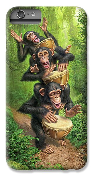 Drum iPhone 6s Plus Case - Bongo In The Jungle by Mark Fredrickson